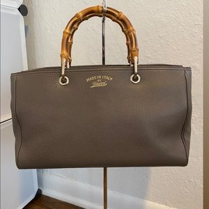 Gucci Exclusive Bamboo Shopper Leather Tote